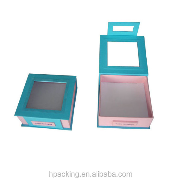 Cardboard Jewelry Boxes With Clear PVC Window jewelry box