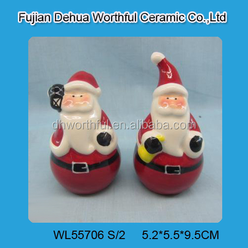 Indoor christmas decorations,ceramic santa claus made in china