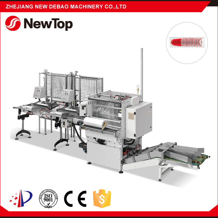 NewTop PLC System Controlled New Paper Cup Counting Packaging Machine