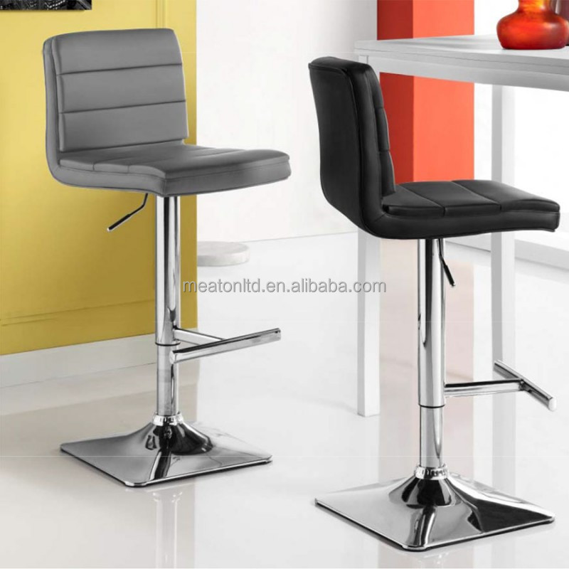 New design leather metal high swivel bar counter stool / Contemporary Chrome Metal Swivel Height Bar Stools CL - 3238