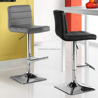 New design leather metal high swivel bar counter stool