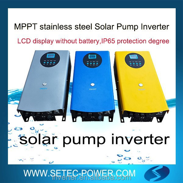AC drive for solar pump with MPPT function