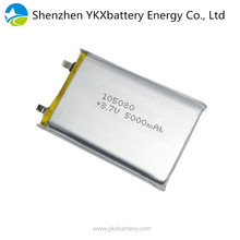 In stock 105080 li-ion lithium li polymer rechargeable 3.7v 5000mah lipo battery