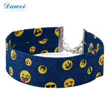 Denim, Jean Choker With Cute Pattern