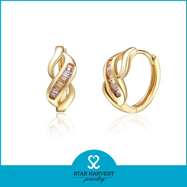 Simple Arabic Gold Earring Designs For Women