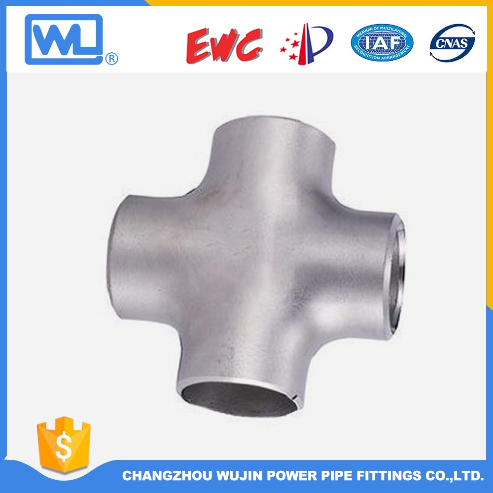 316L Stainless Steel Pipe Fitting Tee Cross
