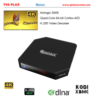 Android TV Box T9S Plus Amlogic S905 Quad Core 4K TV Box Android 5.1 with XBMC KODI Android Media Play