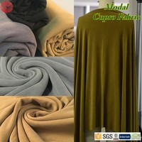 Most Popular on intertextile exhibition Drape Faux Cupro Modal Polyester Fabric