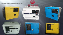 Portable Mobile Small Silent Diesel Generator Set 5kw/5kva 50Hz/60Hz Single/Three Phase