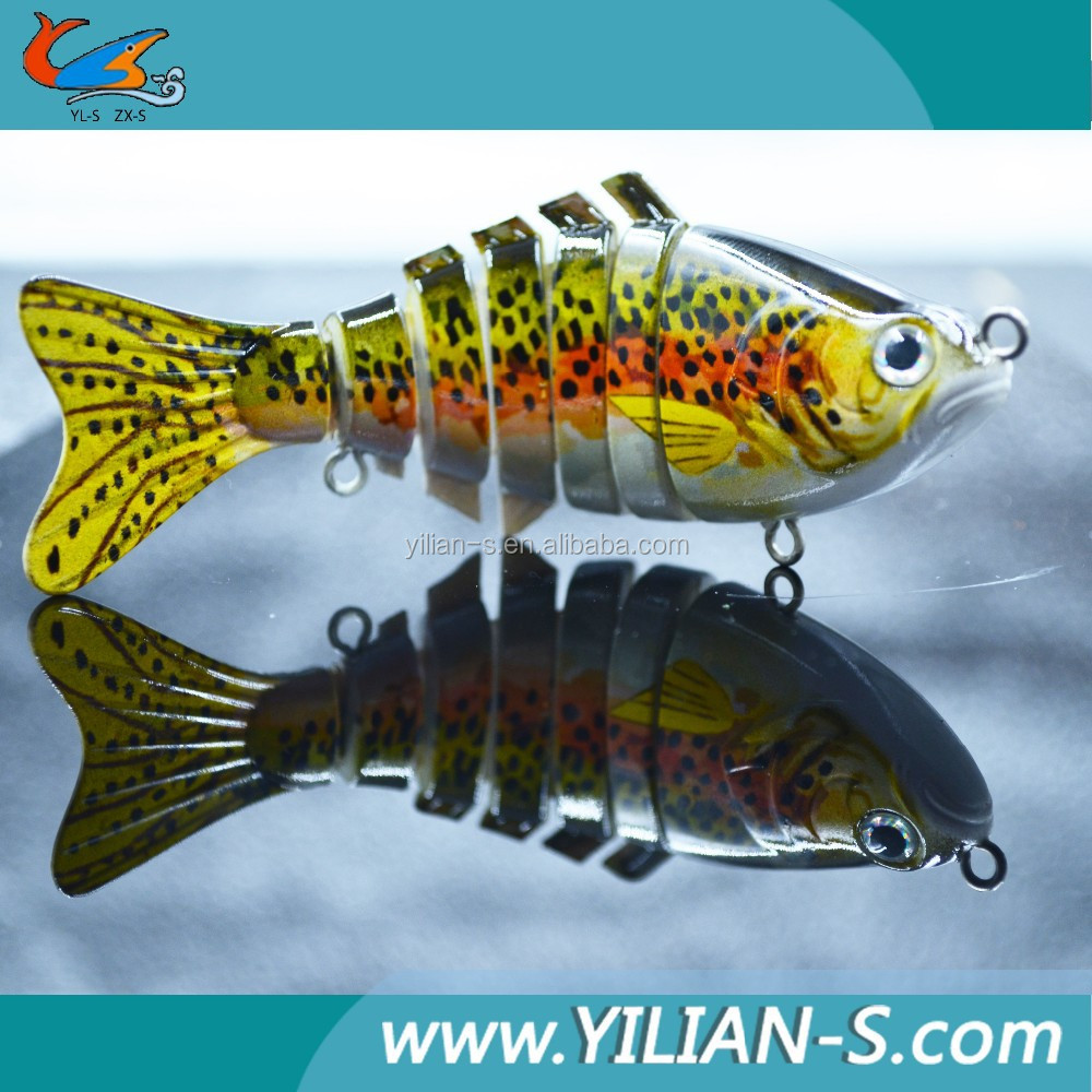 7 sections multi jointed sunfish bait With sharp hook's natural fishing lure