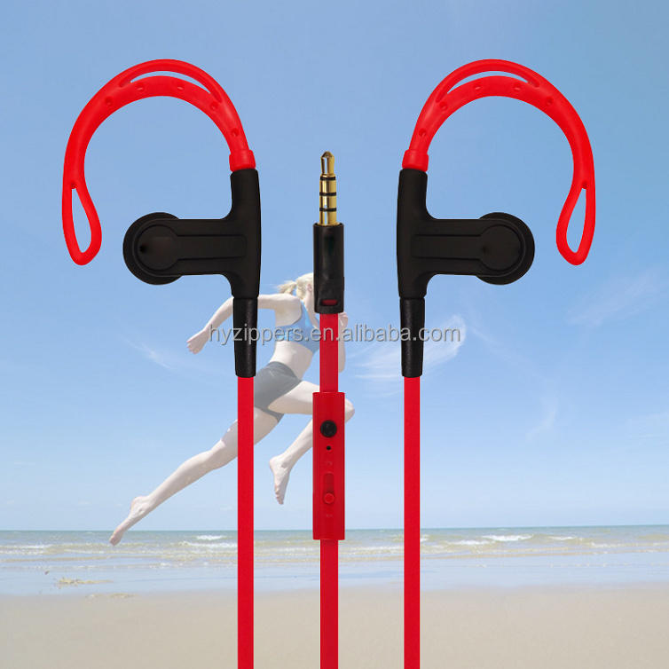 High quality volume control earhook earphone with mic