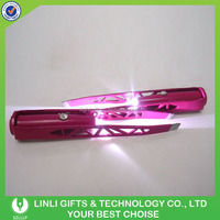 Wholesale Custom Makeup Tools LED Eyebrow Tweezers with Lighting