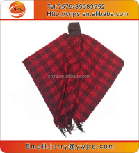 wholesale lady knitting jacquard cashmere wrap poncho shawl