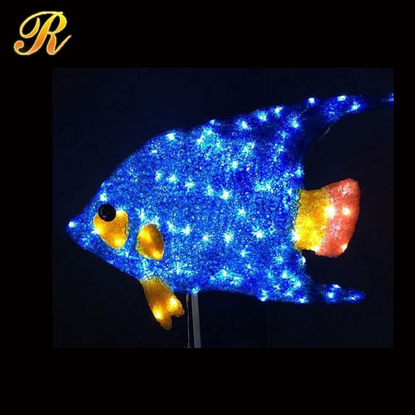 Perfect Acrylic Light Up Fish Animal Shaped Lighting For Holiday Decoration ... Gallery