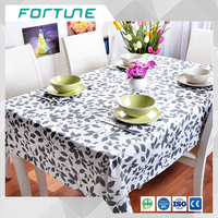 cow pattern printed pvc tablecloth in roll white and black film