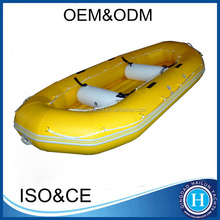 PVC/hypalon rafting boats man-made airmat floor inflatable raft