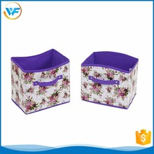 Wholesale Purple Fold Non Woven Document Storage Box