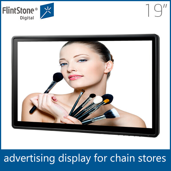 Flintstone 19 inch motion activated advertising display, lcd video monitor advertising retail store, advertising display screen