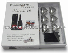 Bar Accessories Stainless Steel Party Beer Wine Whiskey Ice Stones Ice Cubes
