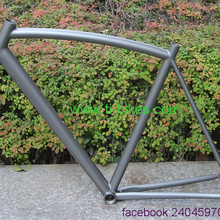Titanium road bike frame with sand blasting finished XACD made Ti touring bicycle frames with 700C tyre OEM Ti bike frame