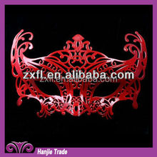 Decorative Red Color Masquerade Party Mask For Theme Party