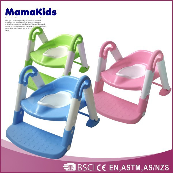 Hot selling multifunction plastic kids potty chair with ladder safety baby toilet