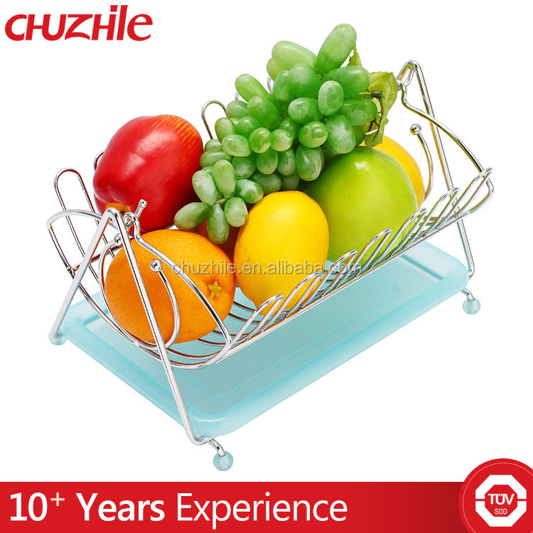 kitchen folding metal fruit vegetable basket dropping water basket