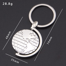 Fashion puzzle globe keychain metal globe keychain for promotional