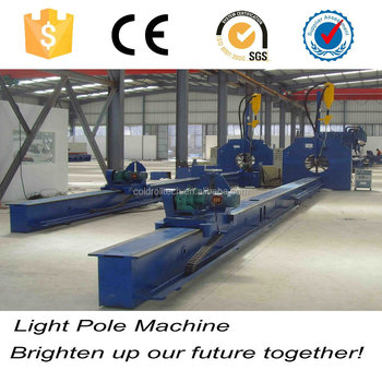 Electric round pole bending welding straighten machine