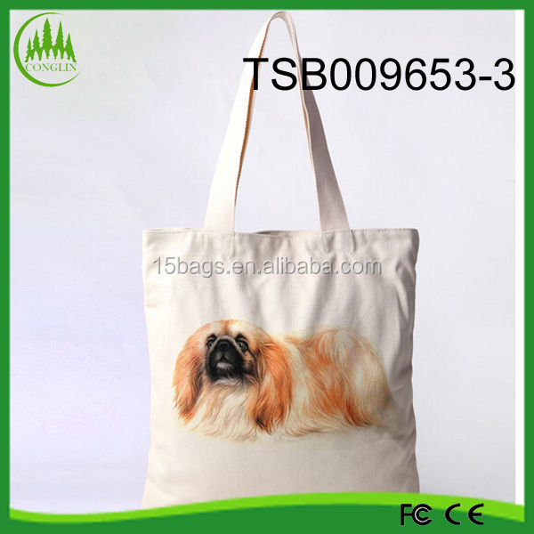 2014 New Design Promotional Animal Printed Canvas Shopping Bag