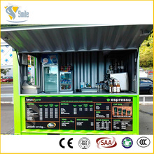 High quality container house prefabricated shipping container coffee shop