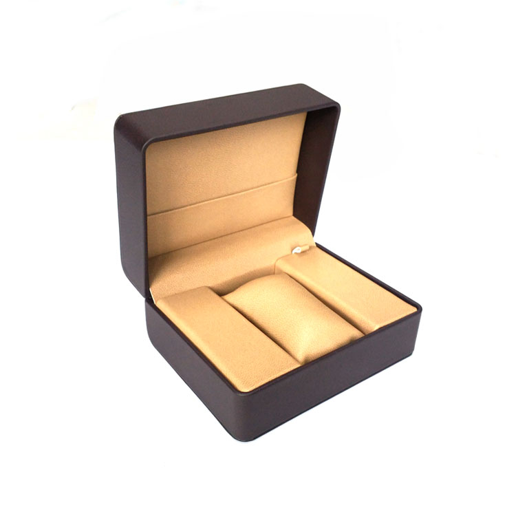 Soft Leather Luxury Paper Packing Box For Watch Custom Logo And Size Printing