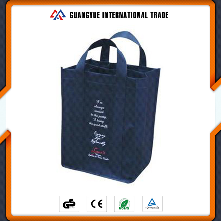 Guangyue Alibaba Eco Friendly 6 Bottle Package PP Non Woven Wine Bags