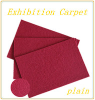 HOPE nonwoven needle punched exhibition carpet for weeding hotel