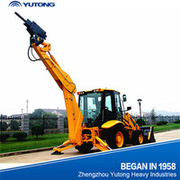 YUTONG 4wd tractor with front end loader and backhoe