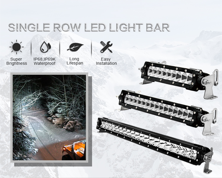 IP69K Waterproof Off road Military Vehicle Parts 20'' ATV Led Light Bar