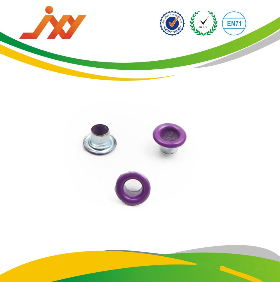 Nickle free colorful Purple eyelets and grommets for shoes handbag