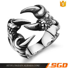 Punk Chrome Jewelry Titanium Steel Dragon Claw Heart Party hip hop lab made jewelry