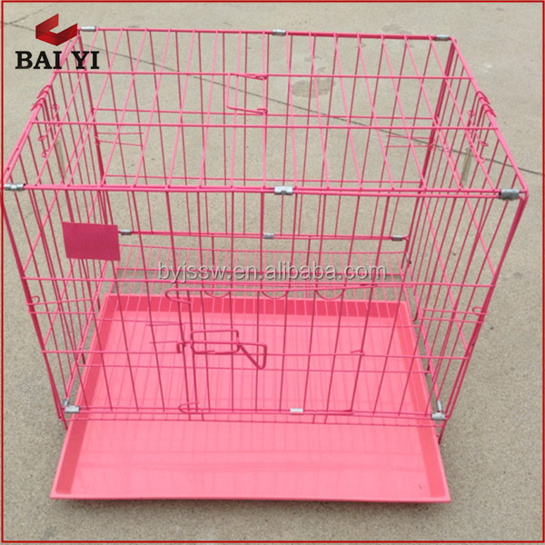 Durable Two Doors Dog House/Metal Dog Cage