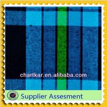For Garment 100% Cotton Yard Dyed Check Flannel Fabric