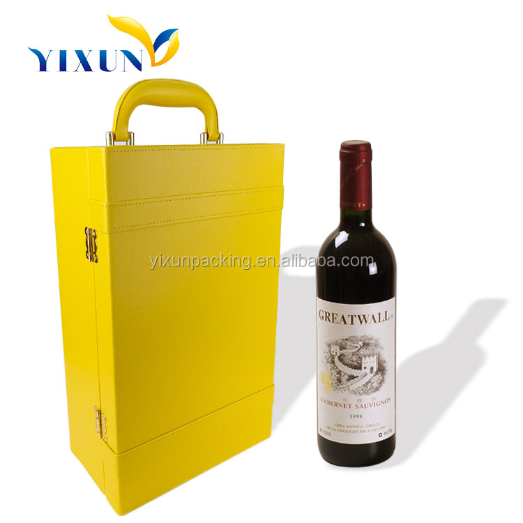 custom leather wine carrier wooden gift box