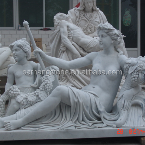 Customized Greek sculpture reproductions marble statue