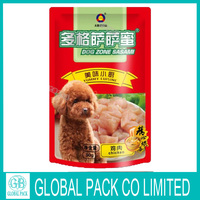 China supplier accept custom resealable foil pouch dog food packaging stand up pet food bag