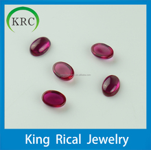 Wholesale oval cabochon ruby gemstone