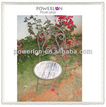 french country style collapsible strong outdoor metal and wood antique furniture chairs