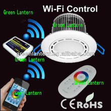 rgbw multi color led ceiling light with remote control wi-fi