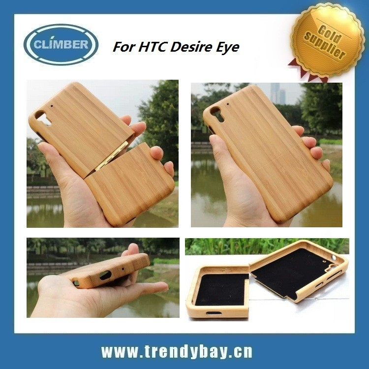 Sapele Cherry Bamboo cell phone case for htc desire Eye