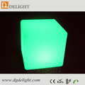 Rechargeable Multi Colors Changing PE Plastic LED Cube Chair with remote and battery