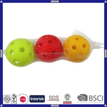 2014 hot selling eco-friendly practice hollow wiffle ball
