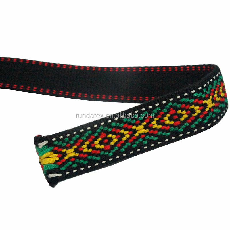 2016 New 100% polyester woven Jacquard Ribbon Webbing For DIY Accessories Headwear